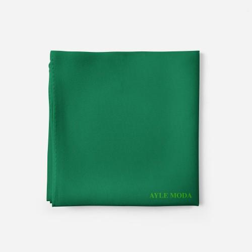 Koyu Pastel Yesili - Şifon Şal - Sedef - 72x200