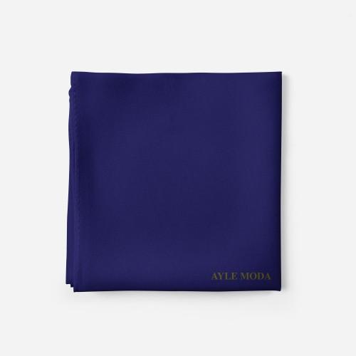 Safir Rengi - Şifon Şal - Sedef - 72x200