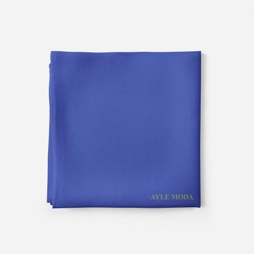 Gok Mavisi - Şifon Şal - Sedef - 72x200