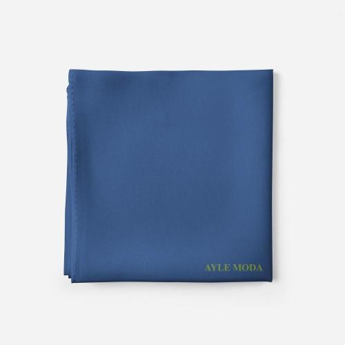 Celik Mavisi - Şifon Şal - Sedef - 72x200