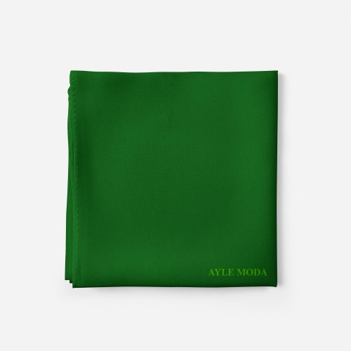 Yesil - Şifon Şal - Sedef - 72x200