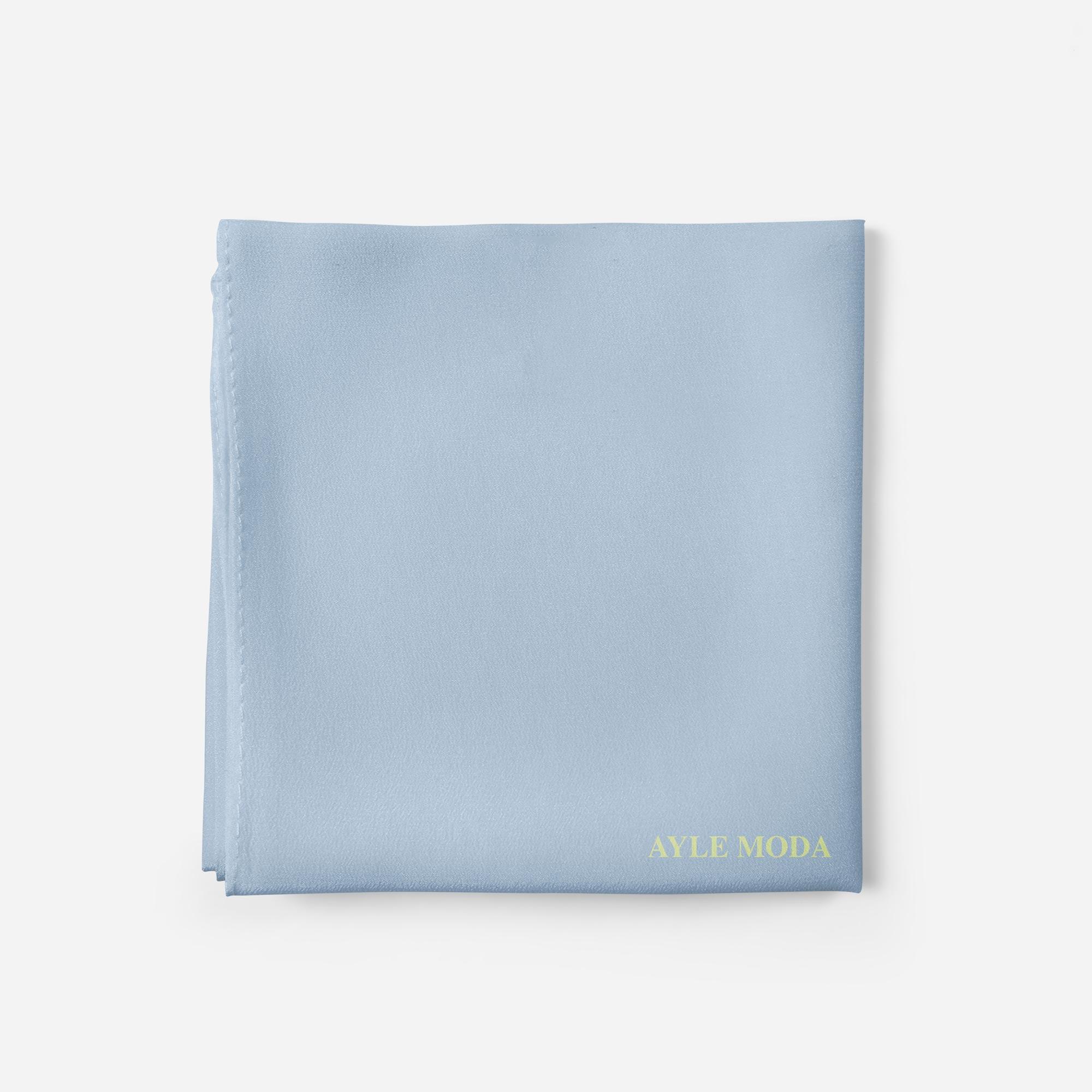 Bebe Mavisi - Şifon Şal - Sedef - 72x200