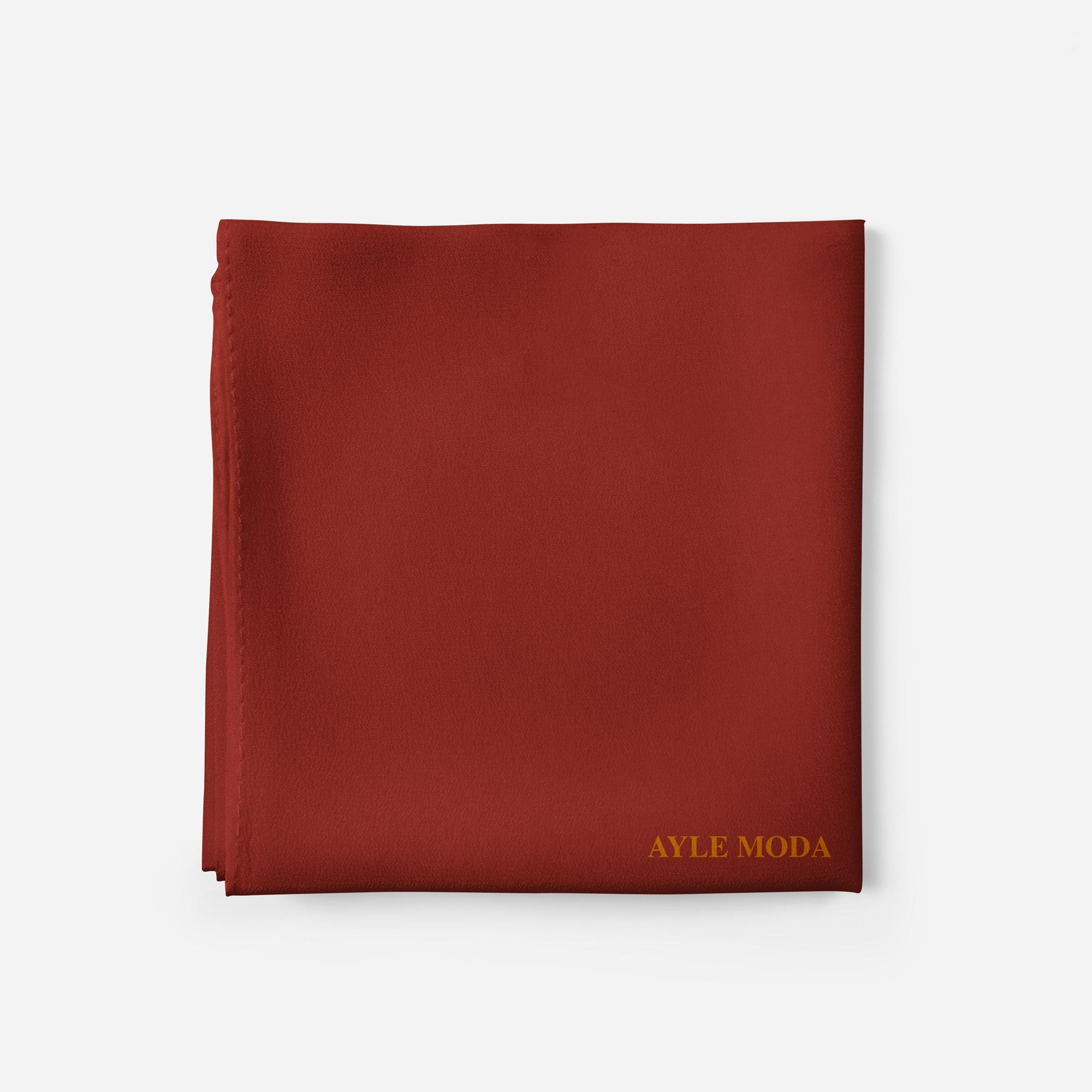 Kiremit Rengi - Şifon Şal - Sedef - 72x200
