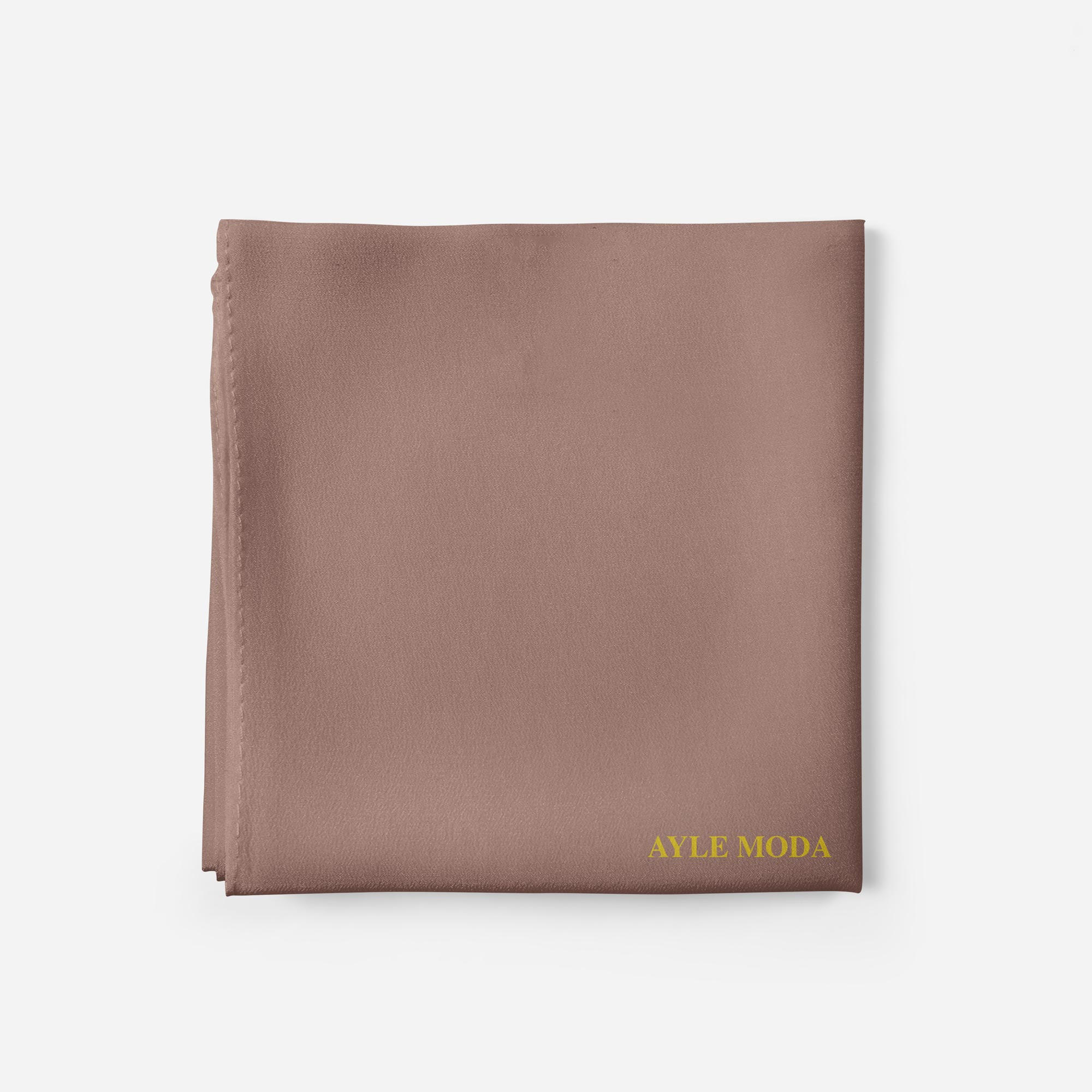 Kahverengi - Şifon Şal - Sedef - 72x200