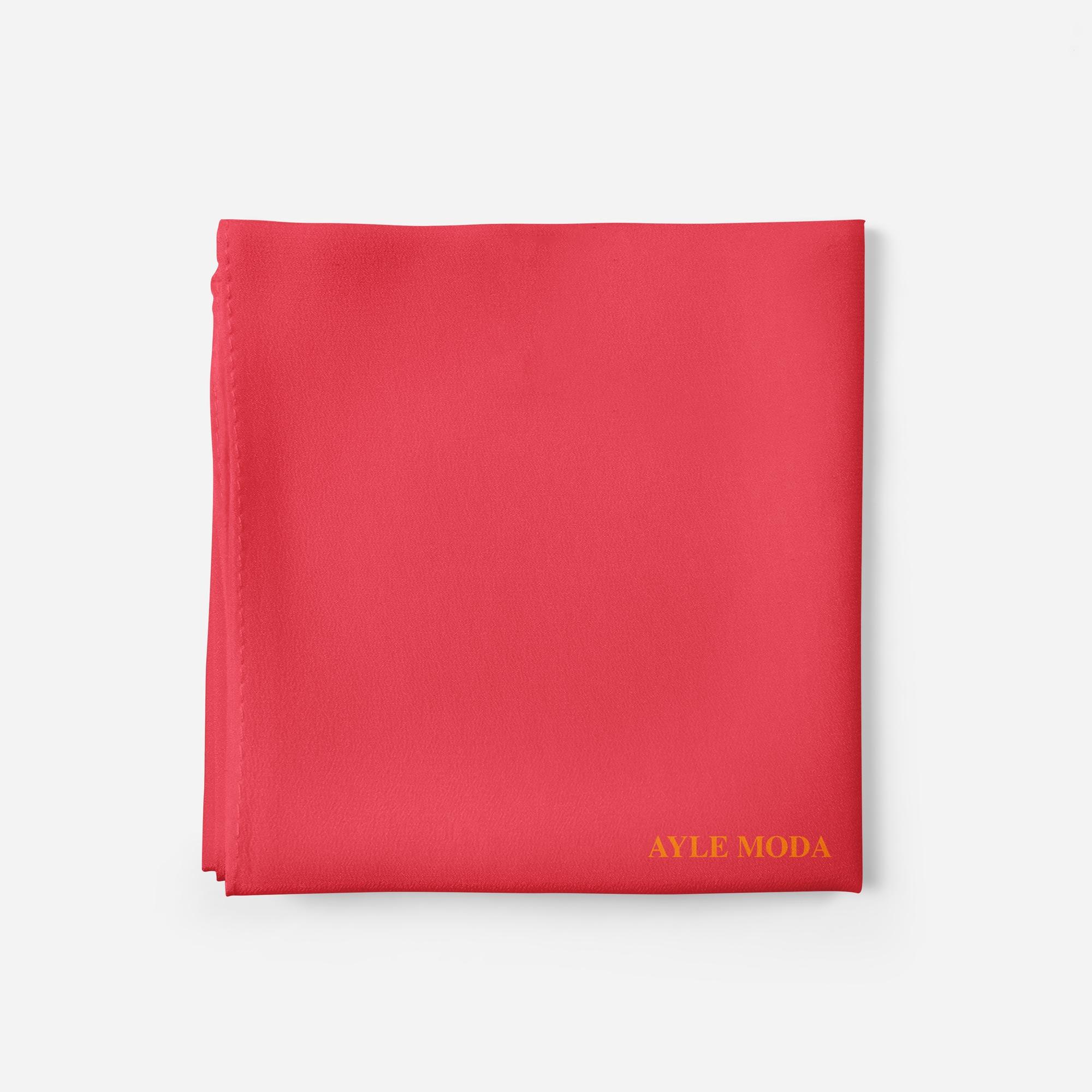 Kardinal Rengi - Şifon Şal - Sedef - 72x200