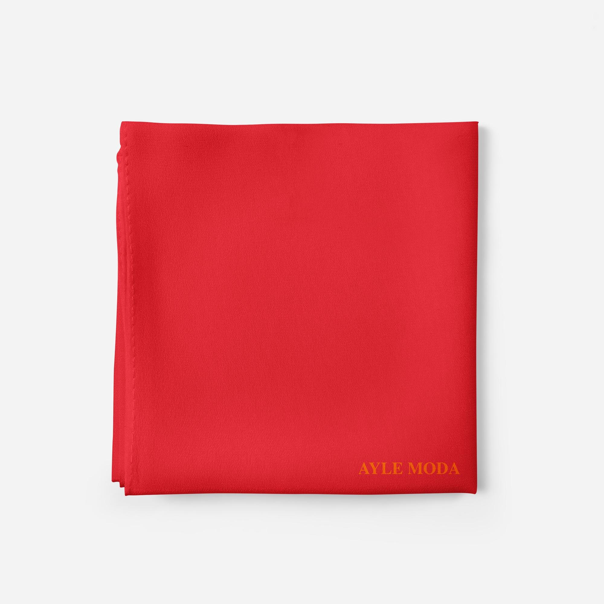 Kiraz Rengi - Şifon Şal - Sedef - 72x200