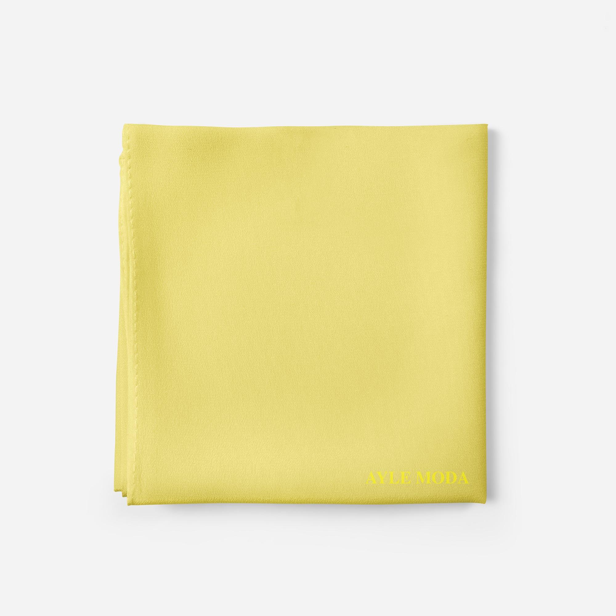 Acik Limon - Şifon Şal - Sedef - 72x200