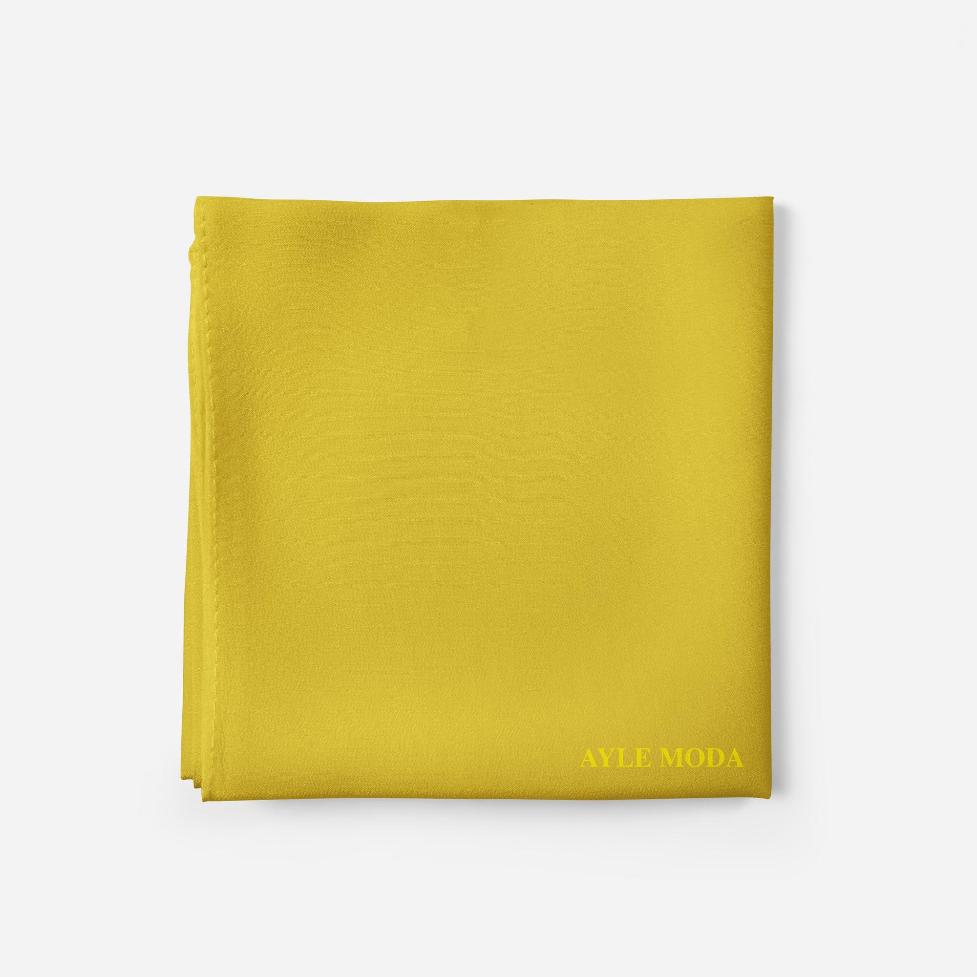 Limon Sarisi - Şifon Şal - Sedef - 72x200