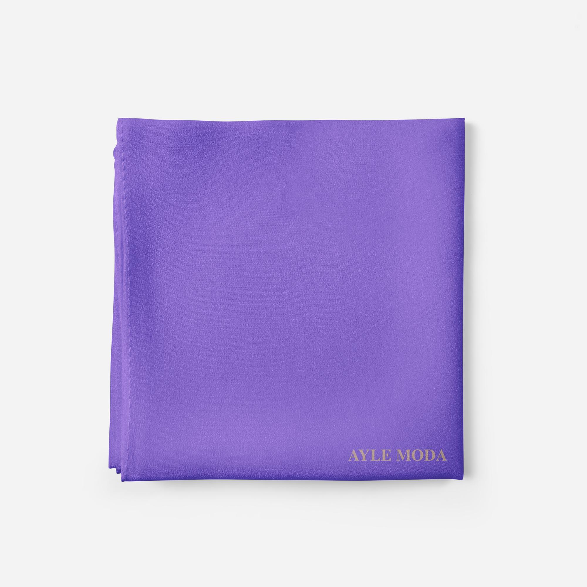 Menekse Rengi - Şifon Şal - Sedef - 72x200